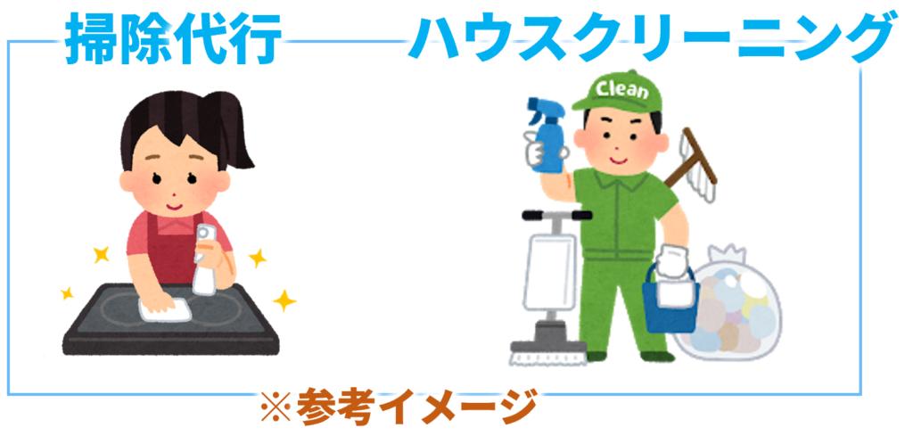 掃除代行・家事代行とハウスクリーニングの違い