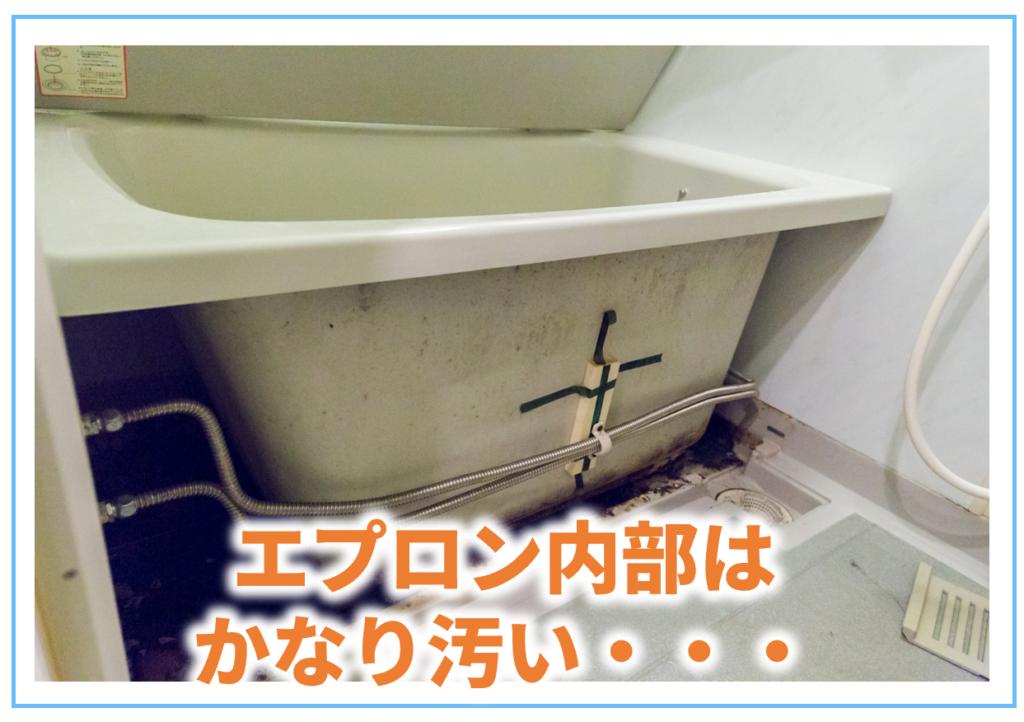 お風呂のエプロン内部はかなり汚いです。