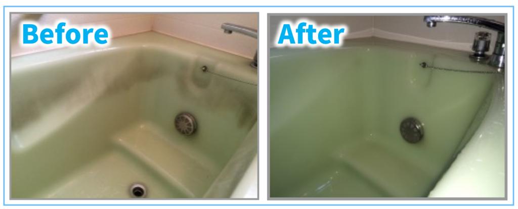 浴槽のカビ垢に関するBefore-After