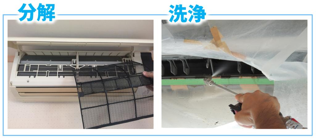 エアコンの分解・洗浄