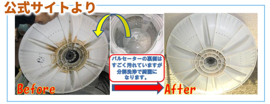 ヤマダ電機公式サイトより洗濯槽クリーニングのbefore-after